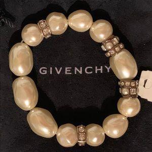 Givenchy pearl stretch bracelet